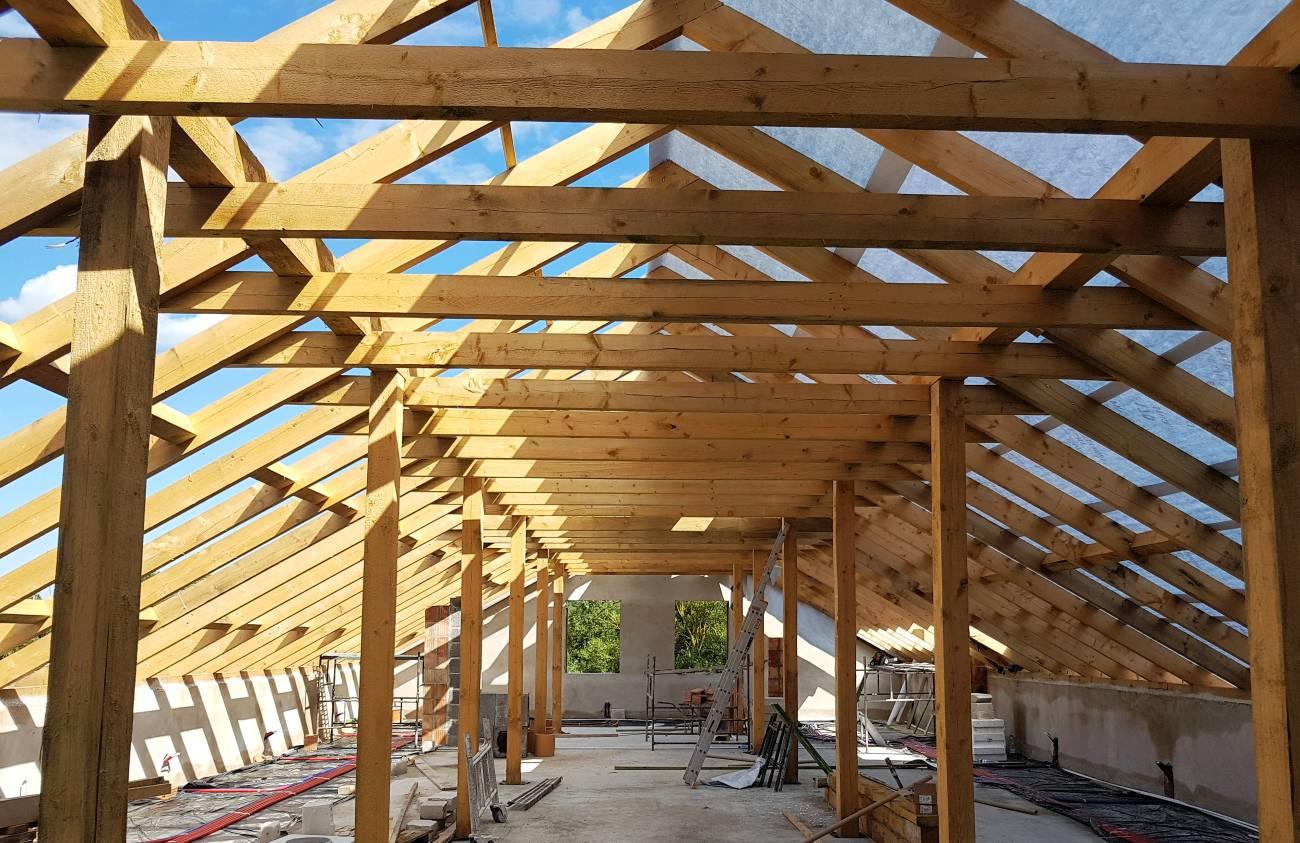 Dachy po montażu w domu
