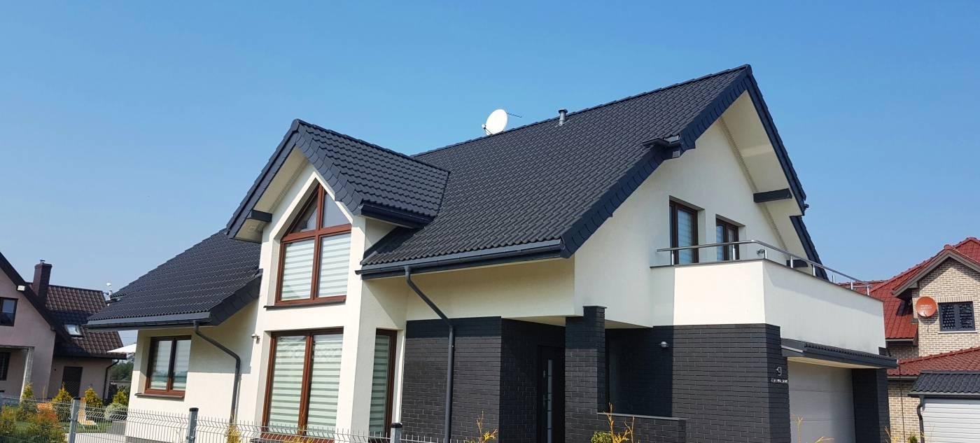 Dom z nowym dachem