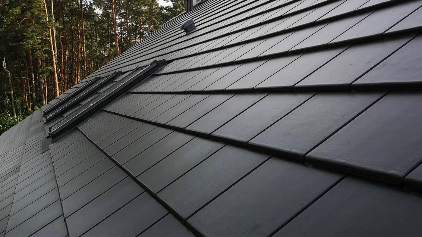 Dachy spadkowe ciemne
