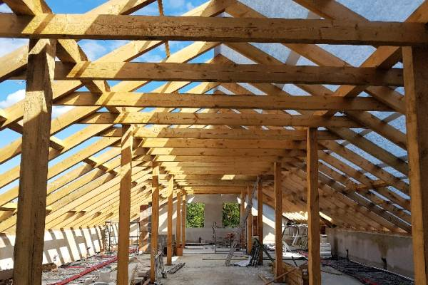 Usługa przebudowy dachu pojedyńczego